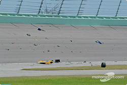 Debris on the track