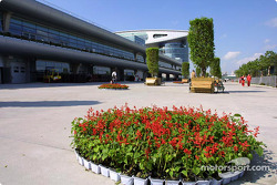 Paddock area at Shanghai International Circuit