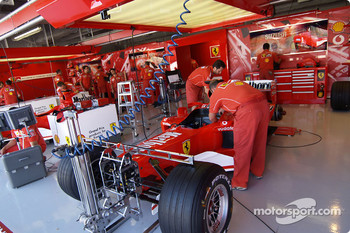 Ferrari garage area