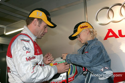 Tom Kristensen with his son Oliver