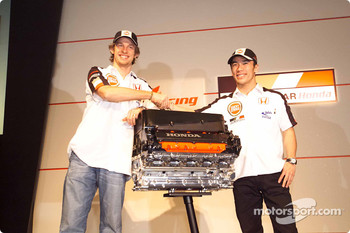 Honda Racing press conference: Jenson Button and Takuma Sato