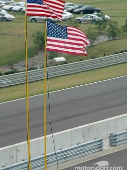 American flags at Barber Motorsports Park