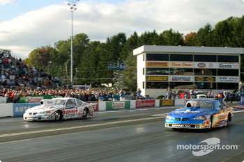 Pro Stock final, in a big surprise, Jason Line keeps Greg Anderson from his 14th win
