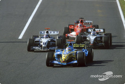 Jacques Villeneuve, Juan Pablo Montoya, Kimi Raikkonen and Rubens Barrichello