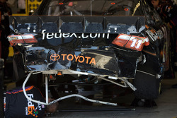 Denny Hamlin, Joe Gibbs Racing Toyota gets caught up in a wreck