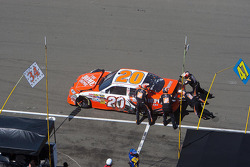 Trouble on pit road for Joey Logano, Joe Gibbs Racing Toyota