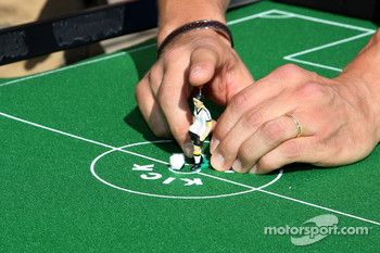 Michael Schumacher, Mercedes GP play table football