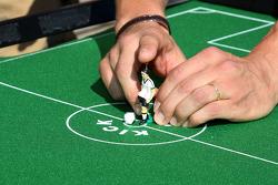 Michael Schumacher, Mercedes GP play table football