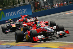 Timo Glock, Virgin Racing leads Lucas di Grassi, Virgin Racing