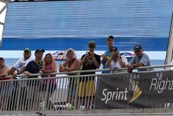 Fans watch practice