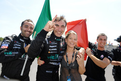 Race winner Andrea Bertolini celebrates