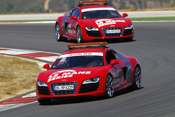 Audi R8 safety cars on track
