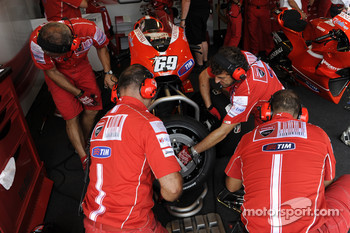 Ducati Corse team members at work