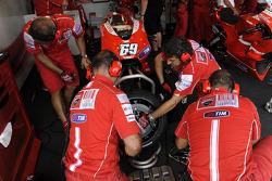 Ducati Corse team members at work