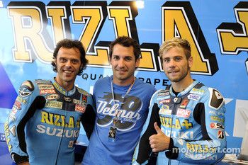 Loris Capirossi, Rizla Suzuki MotoGP and Alvaro Bautista, Rizla Suzuki MotoGP