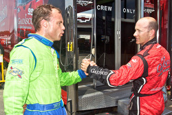 Pole winner Jon Fogarty congratulated by Nic Jonsson