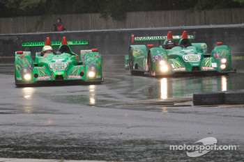 #99 Green Earth Team Gunnar Oreca FLM09: Gunnar Jeannette, Elton Julian, #36 Genoa Racing Oreca FLM09: Tom Sedivy, Christian Zugel