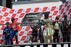 Podium: Menasheh Idafar, James Calado and Jean Eric Vergne