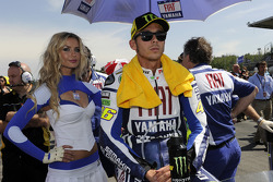 Valentino Rossi, Fiat Yamaha Team with his charming grid girl