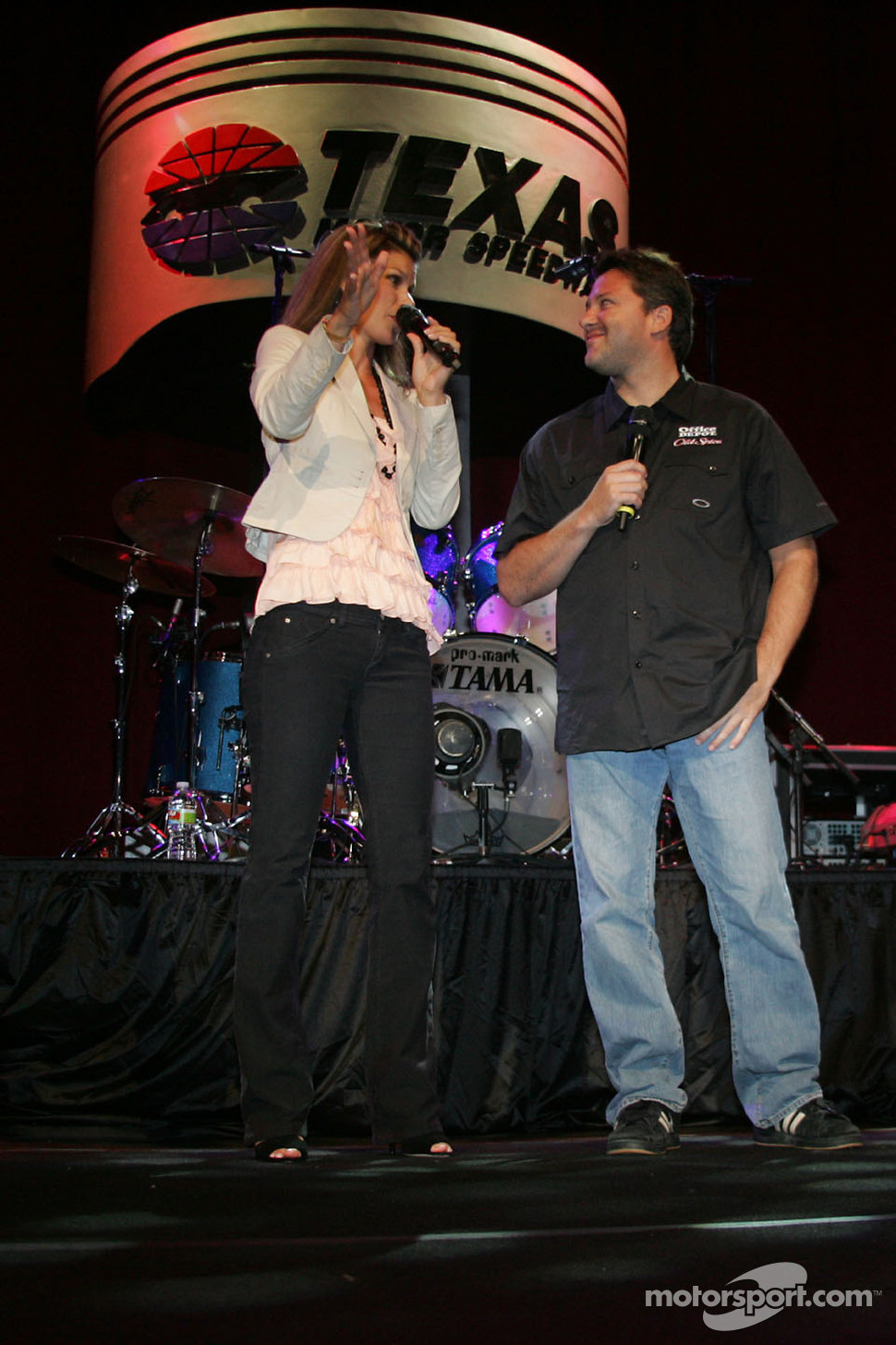 Jamie Little and Tony Stewart