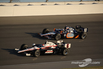 Ryan Briscoe, Team Penske and Dario Franchitti, Target Chip Ganassi Racing