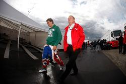 Jolyon Palmer with his father Jonathan Palmer CEO MotorSport Vision