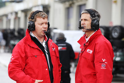 Giles Butterfield, Formula Two Group Operations Manager and Richard Gates, F2 Team Manager
