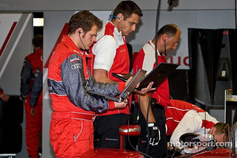 Audi Mechanics Ready The Car