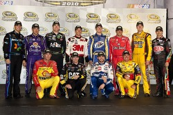 Chase for the Cup top 12: Denny Hamlin, Matt Kenseth, Carl Edwards, Greg Biffle, Kurt Busch, Tony Stewart, Kyle Busch, Jeff Gordon, Kevin Harvick, Jeff Burton, Jimmie Johnson, Clint Bowyer