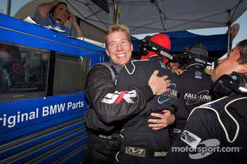 Andrew Hendricks and Fall-Line Motorsports team members celebrate as #48 Fall-Line Motorsports BMW M3 Coupe: Charles Espenlaub, Charles Putman takes the GS championship