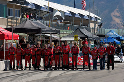 GAINSCO/ Bob Stallings Racing team members during National Anthem