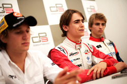 Esteban Gutierrez with Renger Van Der Zande and Nico Muller in the press conference