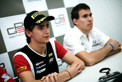 Esteban Gutierrez in the press conference with Robert Wickens