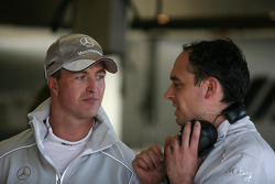 Ralf Schumacher, Team HWA AMG Mercedeswith his engineer