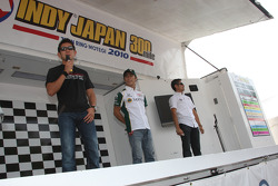 Hideki Mutoh, Newman/Haas/Lanigan Racing, Takuma Sato, KV Racing Technology and Roger Yasukawa, Conquest Racing