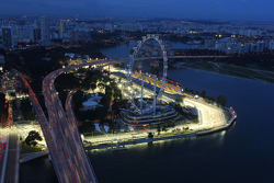 Singapore Flyer and the pit building