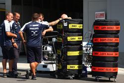 Williams F1 Team mechanics