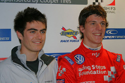 Jack Harvey (driving for Carlin in 2011) and James Calado