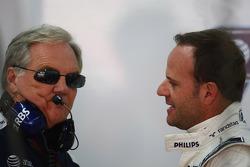 Patrick Head, WilliamsF1 Team, Director of Engineering and Rubens Barrichello, Williams F1 Team
