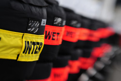 Spare tyres in the paddock