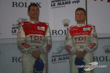 LMP1 podium: second place Tom Kristensen and Allan McNish