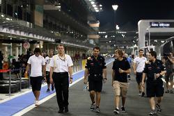 Sebastian Vettel, Red Bull Racing, walks the circuit