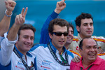 The Barwa Addax Team celebrate Sergio Perez feature race victory