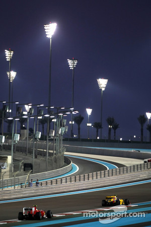 The Yas Marina Circuit by night