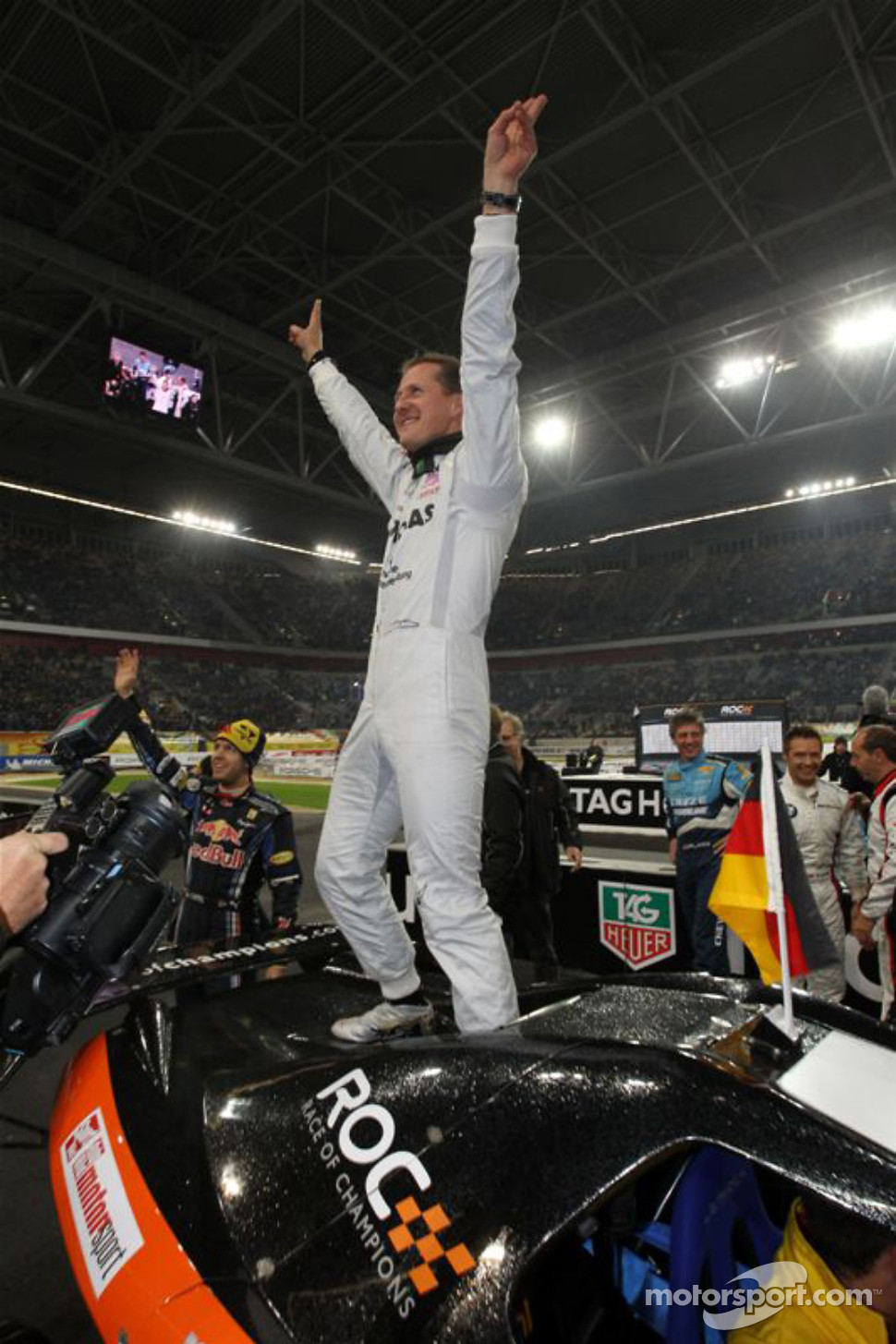 Nations Cup winner Michael Schumacher for Team Germany
