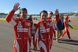 Fernando Alonso and Felipe Massa