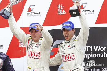 Podium: race winners Frédéric Makowiecki and Yann Clairay