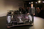 The 2011 Audi R18 TDI with Allan McNish