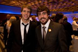 Formula One World Champion Sebastian Vettel, Red Bull and Fernando Alonso, Ferrari