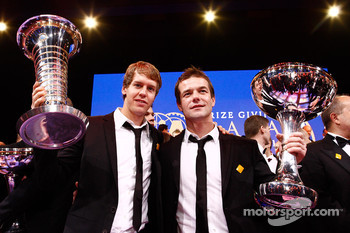 FIA Formula One World Champion Sebastian Vettel and FIA World Rally Champion Sébastien Loeb